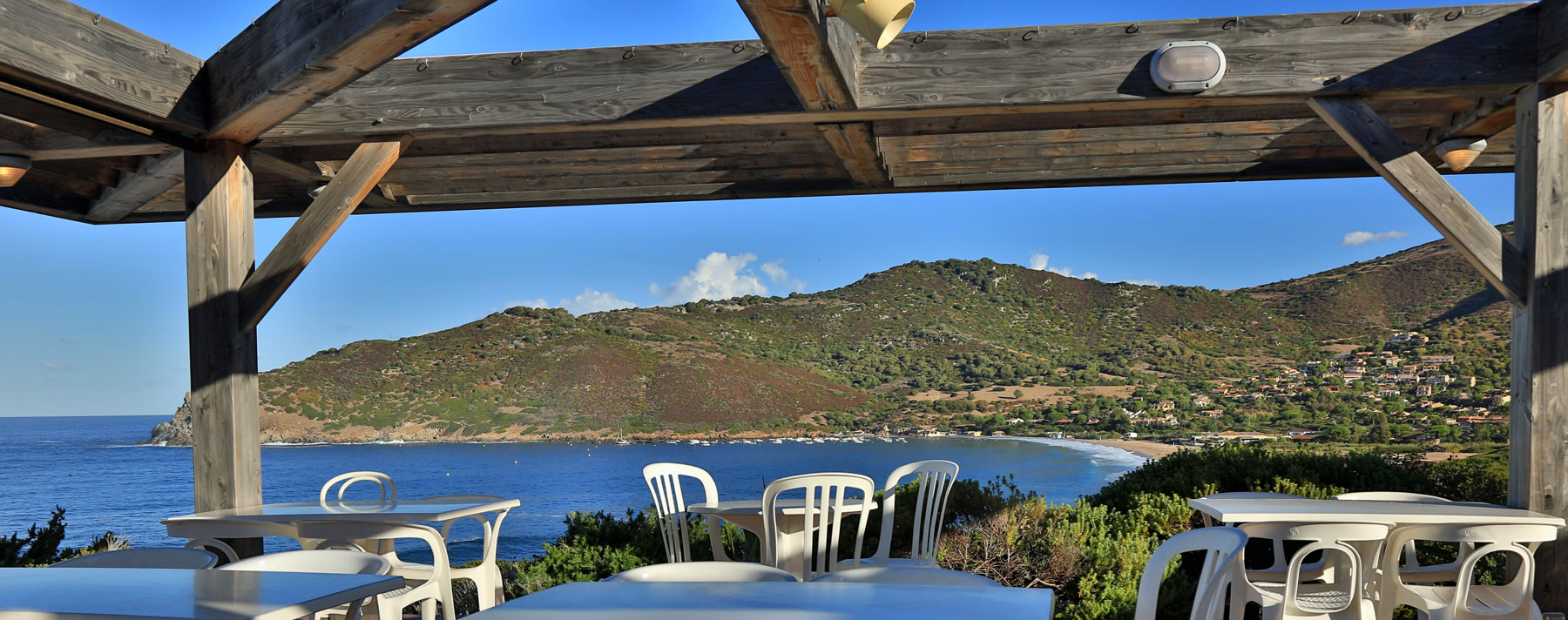 Vue du restaurant paese di lava village vacances en corse du sud ajaccio - Restaurant corse du sud ...