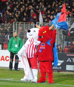 Derby entre les 2 clubs de foot d'Ajaccio, l'ACA et le GFCA